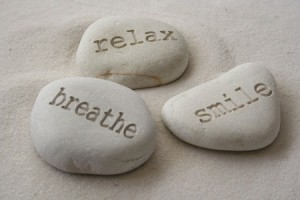 relax, breathe, smile